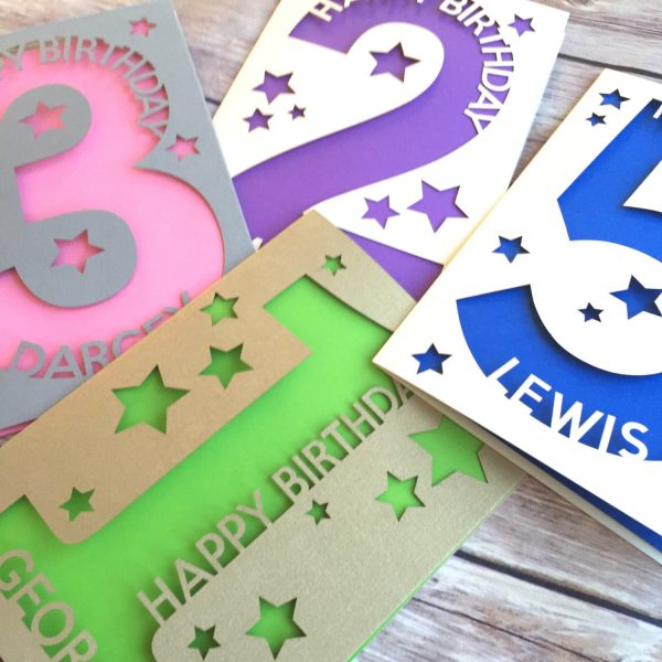 Personalised 1st Birthday Card, Baby's First, Child, Kids, Niece, Nephew, Daughter, Son, Age 1, 2nd, 3rd, 4th, 5th, 6th, 7th, 8th, 9th