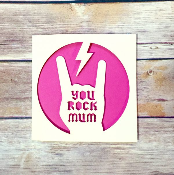 Awesome Mother's Day Card, You Rock Mum, Funny Mother's Day Cards, Mommy Card, Happy Mother's Day, Alternative, Mom, Mothers Day Gifts, Cool