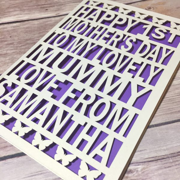 1st Mother's Day Card, Personalised Card, Mummy Card, First Mother's Day, Mummy Card, Mothers Day Gift, Mother's Day, Mummy Gift, Mum Card