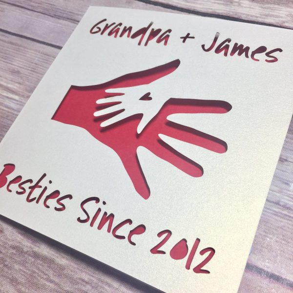 Personalised Father's Day Card for Grandpa, Besties, Grandad, Gramps, Pop, Lasercut, Papercut, Birthday, Grandparents, Papa, Isolation Gifts