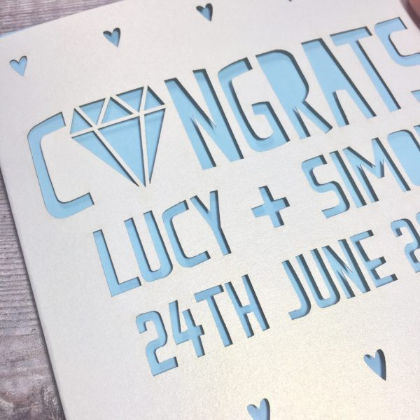 Personalised Engagement Card, Congratulations, She Said Yes, On Your Engagement, Future Mr & Mrs, Congrats, Happy Couple, Lasercut, Handmade