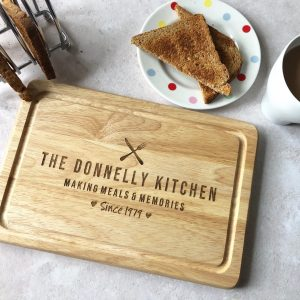 Personalised Anniversary Gifts, Chopping Board, 5th Wood, Christmas, Mum Dad, Engraved, 1st, Wedding, 10th, 15th, 20th, 25, 30, 40th, 50