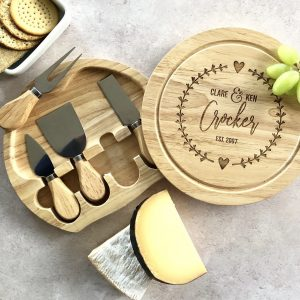 Personalised Cheese Board, Wedding Gift, 5th Anniversary Wood, Engraved, Daughter, Son, Foodie, Cheeseboard Husband, Chopping Board