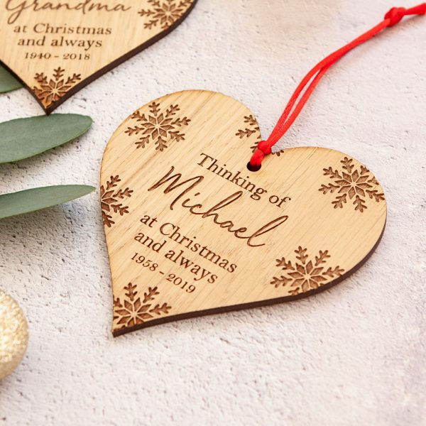 Personalised Engraved Memorial Christmas Tree Decoration, In Memory Of, Remembrance Ornament, Sympathy Gift, Missing Someone at Xmas, Bauble