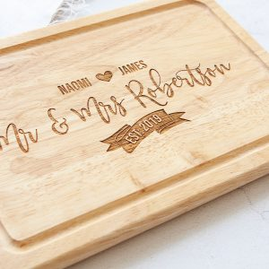 Personalised Wedding Gift, Chopping Board, 5th Anniversary Wood, Christmas in Your New Home, Engraved, 1st, 10th, 15th, 20th, 25, 30, 40th