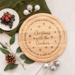 Personalised Christmas Food Platter, Chopping Board, Serving Dish, Cheese Plate, Foodie Gifts, Mum Dad Gift, Laser Engraved Presents, Round