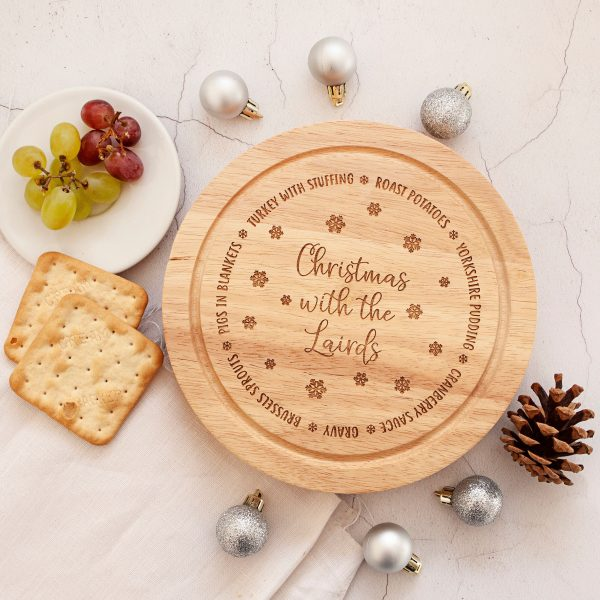Personalised Christmas Cheese Knives Board, Foodie Gift Set, Cheese Lover, Christmas Dinner Tableware, Friends Gifts, Brother Sister Present
