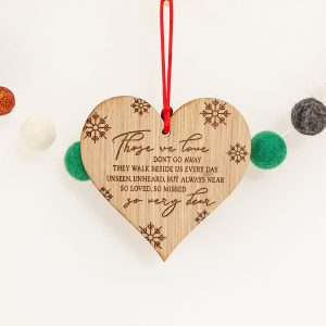 Remembrance Christmas Tree Decoration, Sympathy Gift, Missing Someone, Engraved Bauble, Those We love Don't Go In Loving Memory, Remembrance