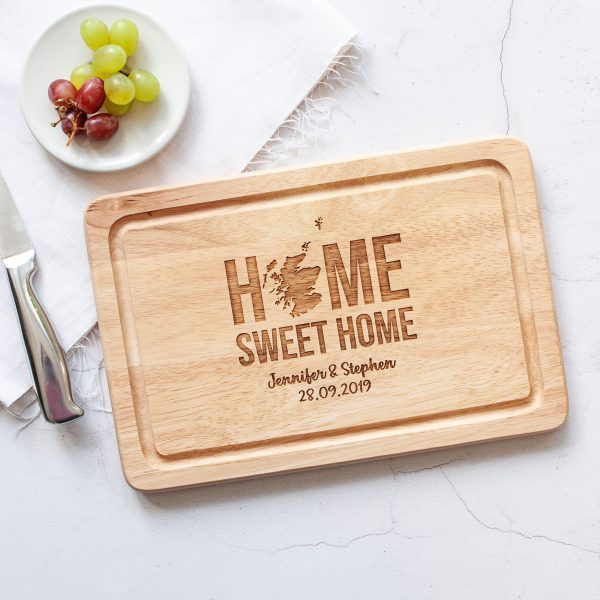 Personalised Scottish Gifts, Home Sweet Home Slate Board, Scots Christmas, Cheese Platter, New Home Gift, Housewarming Present, Scotland Map