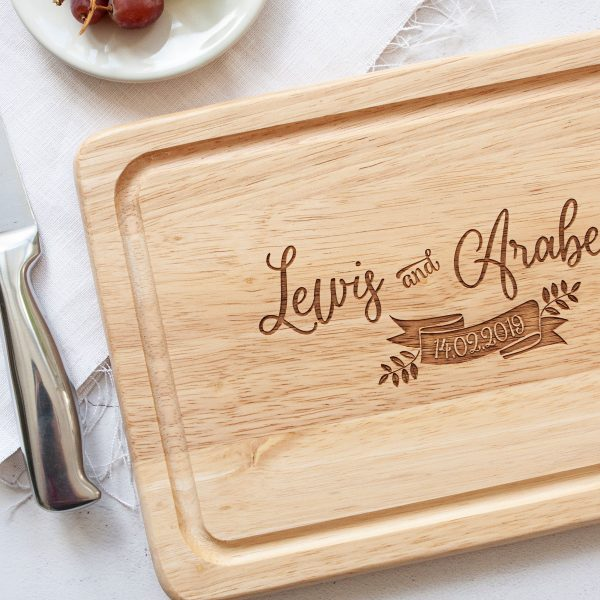 Personalised Engagement Gift, Congratulations On Your Engagement, Cutting Board, 5th Anniversary Wood Gifts, Housewarming Present, Wedding