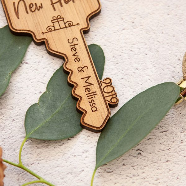 Personalised Engraved First Christmas In Your New Home Key Decoration, Lasercut Baubles, Xmas Decs, Tree Ornaments, 1st Christmas