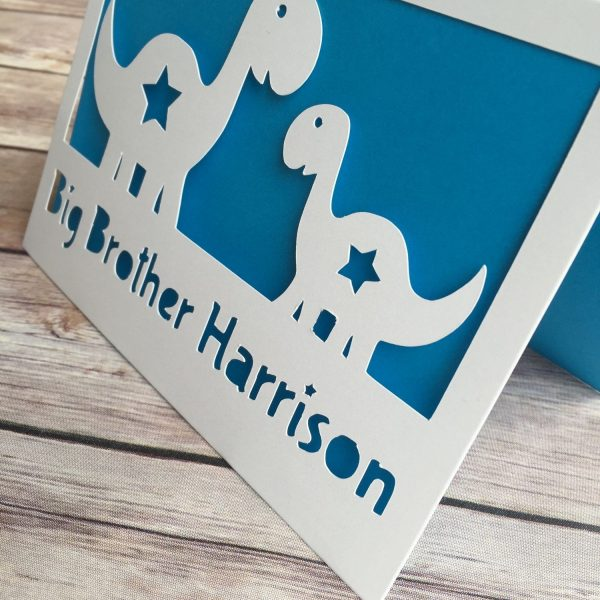 Big Brother Card, Big Sister Card, Personalised Gift, Big Brother, New Sibling Card, New Big Brother, New Baby Card, New Arrival, Dinosaur