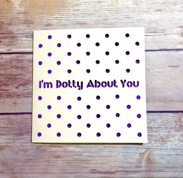 Dotty About You Valentine's Day Card